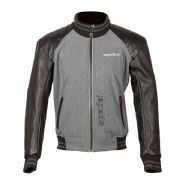 Spada Campus Yale Leather Jacket Grey/Black